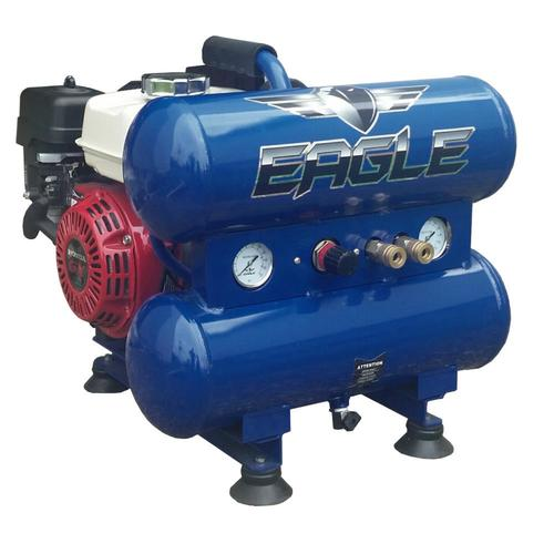 EAGLE 4-Gallon Single Stage Portable Gas Twin Stack Air Compressor at Lowes.com