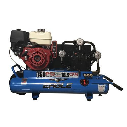 EAGLE 10-Gallon Single Stage Portable Gas Horizontal Air Compressor at Lowes.com