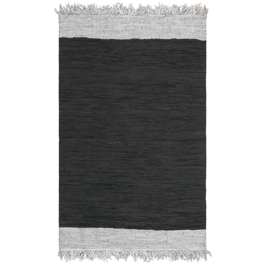 Safavieh Vintage Leather Teton 4 X 6 Light Gray Black Coastal Handcrafted Area Rug In The Rugs Department At Lowes Com