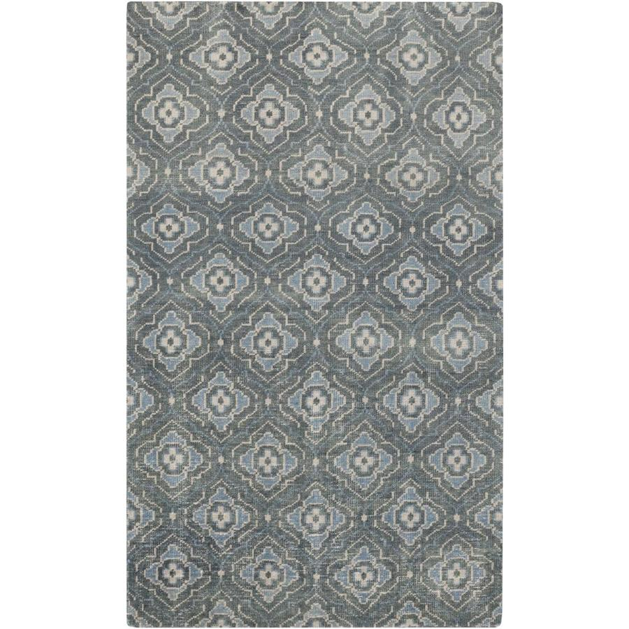Surya Cypress 2 X 3 Dark Green Trellis Mid Century Modern Handcrafted Area Rug In The Rugs Department At Lowes Com