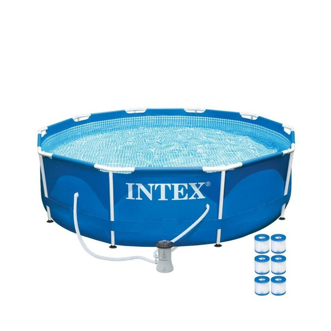 Intex 10 Ft X 10 Ft X 30 In Round Above Ground Pool In The