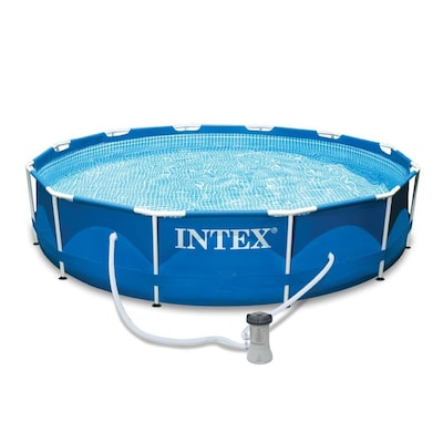 Intex 12-ft x 12-ft x 30-in Round Above-Ground Pool