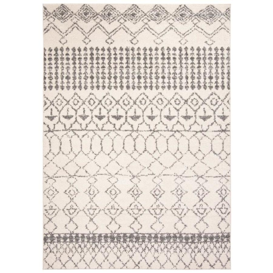 Safavieh Tulum Artesia 6 X 9 Ivory Gray Indoor Abstract Moroccan Area Rug In The Rugs Department At Lowes Com