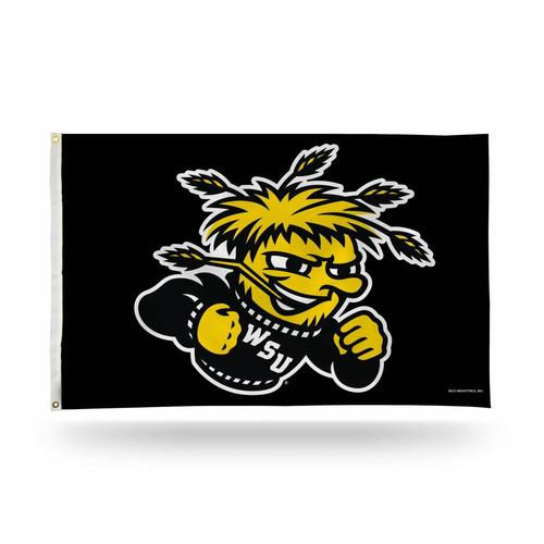 NCAA Wichita State Shockers Flag with Grommets 3 x 5-Feet Team Color