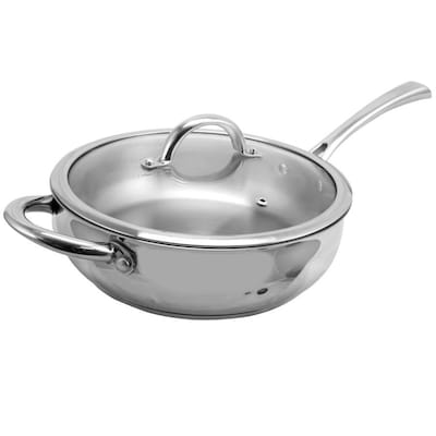 Soeppan 10 Liter Action.Oster Derrick 10 In Stainless Steel Cooking Pan Lid S