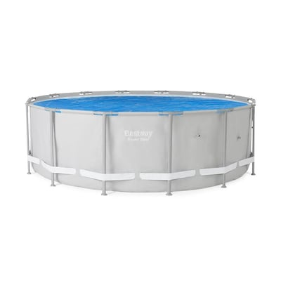 Bestway 58252E 14ft Round Above Ground Swimming Pool Solar ...