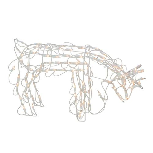 Northlight 14-in Reindeer Light Display with Clear