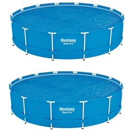 2 Pack Bestway Round PVC 10 Foot Pool Cover for Above Ground Pro Frame Pools