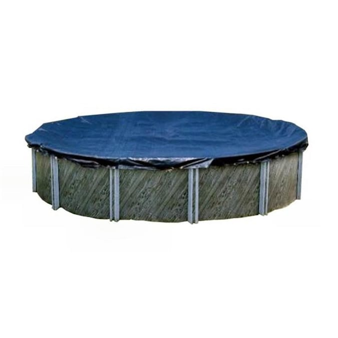 Swimline Pco837 33 Foot Round Above Ground Winter Swimming Pool Cover Blue In The Pool Covers Department At Lowes Com