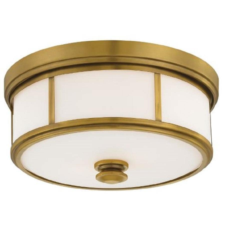 Minka Lavery 16 In Liberty Gold Traditional Incandescent Flush Mount Light In The Flush Mount Lighting Department At Lowes Com