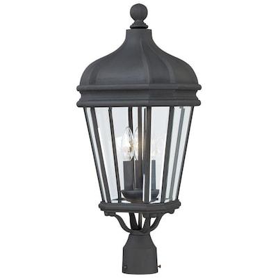Minka Lavery Harrison 3 Light Black Outdoor Post Mount At
