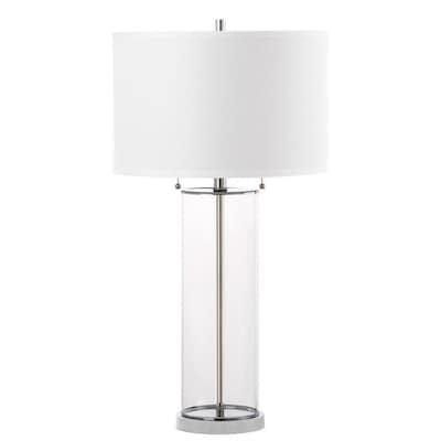 Safavieh Velma 31 In Clear Fluorescent Table Lamp With Fabric Shade by Lowe's
