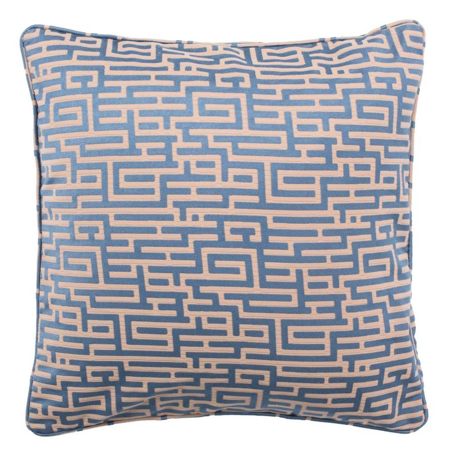 Safavieh Basma 20 In W X 20 In L Blue Tan 30 Cotton 70 Polyester Square Indoor Decorative Pillow In The Throw Pillows Department At Lowes Com