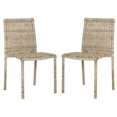Fine Safavieh Set Of 2 Makassar Coastal Gray Accent Chair At Ocoug Best Dining Table And Chair Ideas Images Ocougorg
