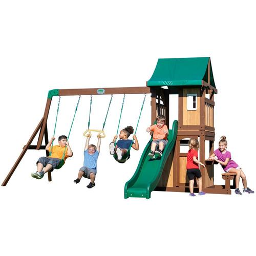 Backyard Discovery Lakewood Wooden Swing Set in the Wood ...