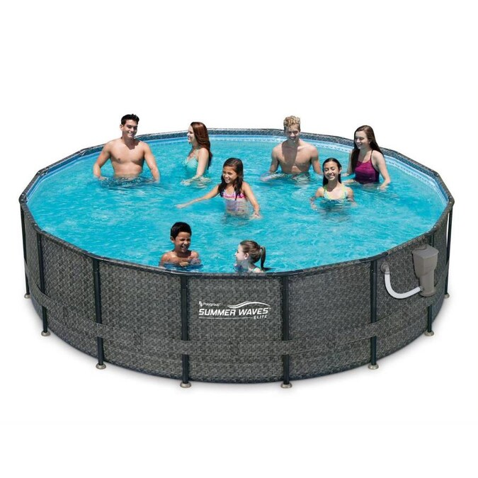Summer Waves 16 Ft X 16 Ft X 48 In Round Above Ground Pool In The Above Ground Pools Department At Lowes Com