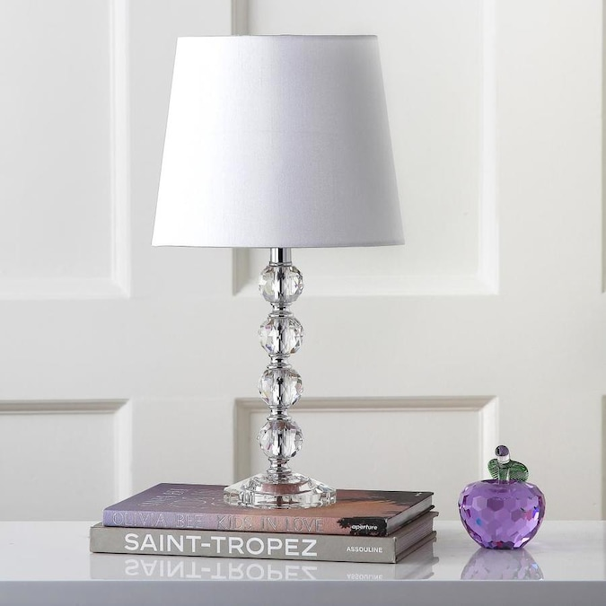 Safavieh Nola 16 In Clear Rotary Socket Table Lamp With Fabric Shade In The Table Lamps Department At Lowes Com