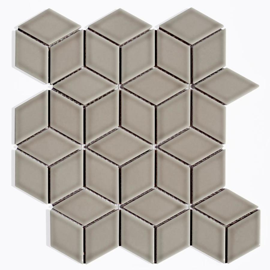 Abolos Monet 20 Pack Gray 12 In X 12 In Glossy Porcelain Patterned Wall Tile In The Tile Department At Lowes Com