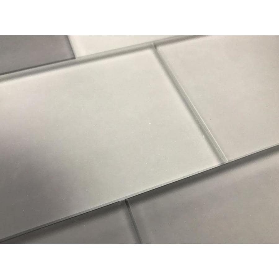 Abolos Forever 112 Pack Gray 3 In X 6 In Matte Glass Subway Wall Tile In The Tile Department At Lowes Com