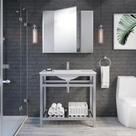 Stainless Steel Bathroom Vanities At Lowes