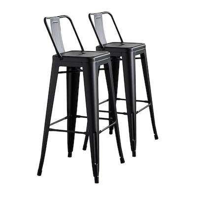 Peachy Ac Pacific Modern Light Weight Industrial Metal Barstools Machost Co Dining Chair Design Ideas Machostcouk