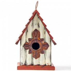 Glitzhome 13 In H Rustic Wood Variety Decorative Bird House In The Bird Houses Department At Lowes Com