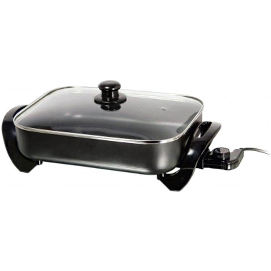 Brentwood 16 In L X 15 In W 1400 Watt Non Stick Electric Skillet In The Electric Skillets Department At Lowes Com