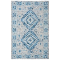 Lowes.com deals on Safavieh Courtyard 5-ft-3-in X 7-ft-7-in Coastal Area Rug