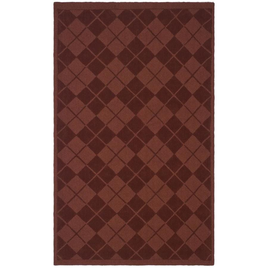 Martha Stewart Argyle 4 X 6 Ohio Buckeye Indoor Geometric Handcrafted Area Rug In The Rugs Department At Lowes Com