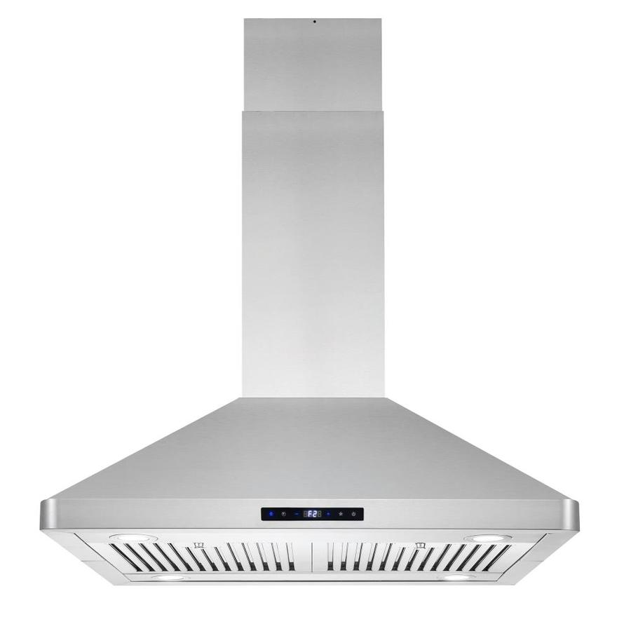 Cosmo 30 In Ducted Stainless Steel Island Range Hood In The Island Range Hoods Department At Lowes Com