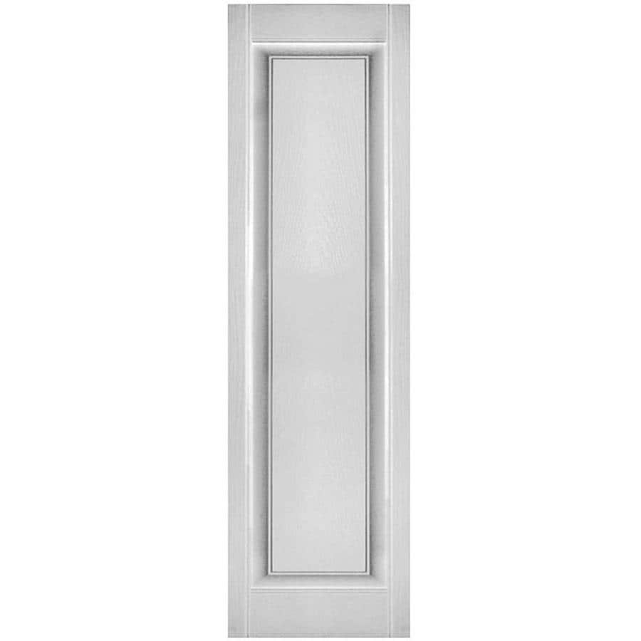 Ekena Millwork Lifetime Custom Single Panel 2 Pack 12 In W X 27 In H White Raised Panel Vinyl Exterior Shutters In The Exterior Shutters Department At Lowes Com
