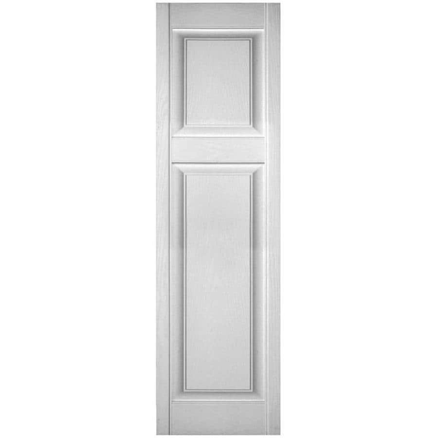 Ekena Millwork Lifetime Custom Offset Panel 2 Pack 12 In W X 61 In H Paintable Raised Panel Vinyl Exterior Shutters In The Exterior Shutters Department At Lowes Com