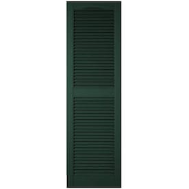 Ekena Millwork Lifetime Custom Cathedral Top Center Mullion 2 Pack 18 In W X 91 In H Bright White Louvered Vinyl Exterior Shutters In The Exterior Shutters Department At Lowes Com