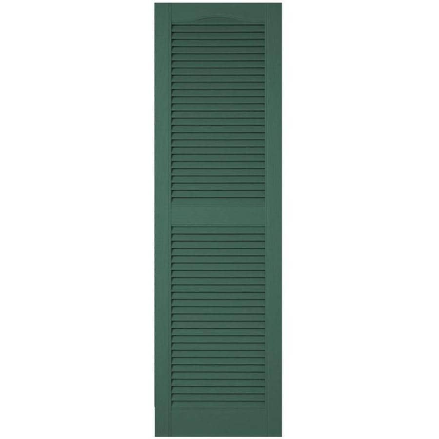 Ekena Millwork Lifetime Custom Cathedral Top Center Mullion 2 Pack 18 In W X 46 In H Forest Green Louvered Vinyl Exterior Shutters In The Exterior Shutters Department At Lowes Com