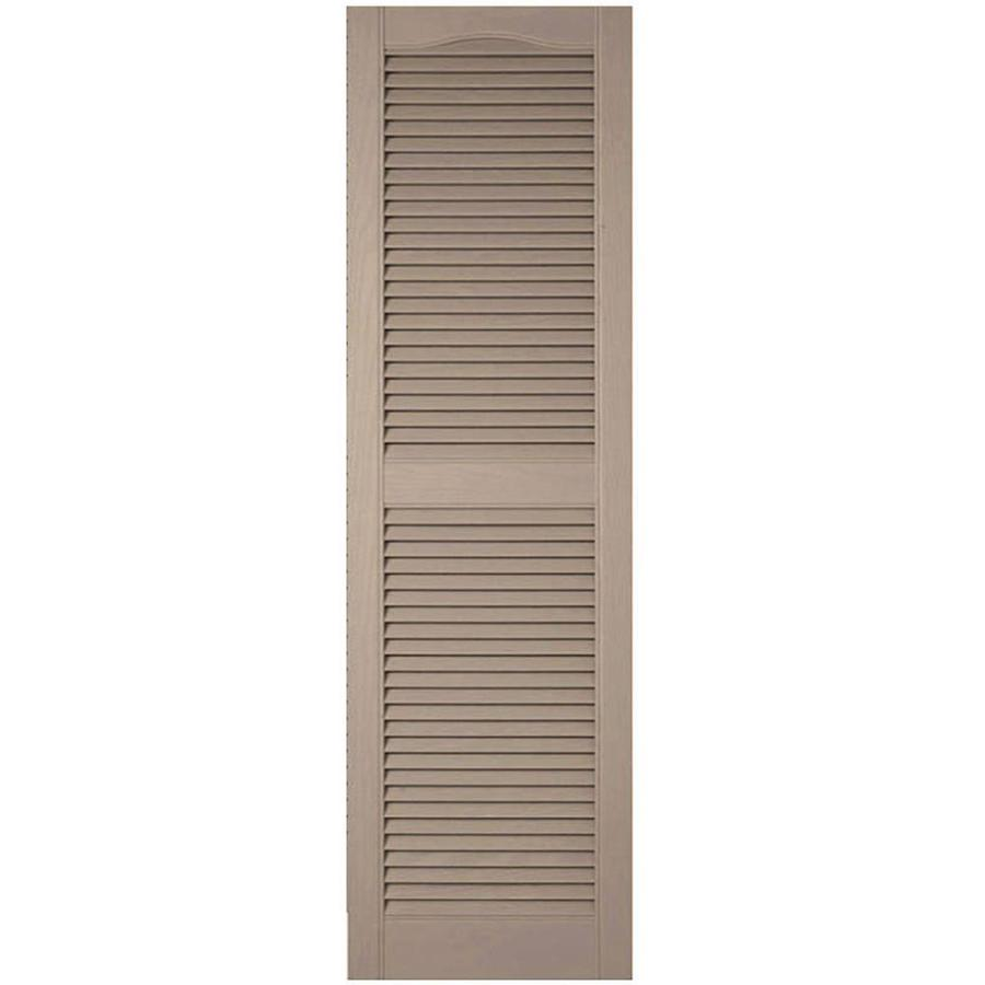 Ekena Millwork Lifetime Custom 2 Pack 18 In W X 82 In H Wicker Louvered Vinyl Exterior Shutters In The Exterior Shutters Department At Lowes Com