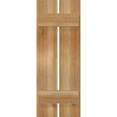 Board And Batten Wood Exterior Shutters