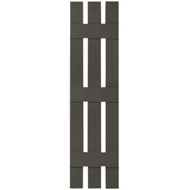 Ekena Millwork FBS06D17X078RUF Rustic Three Spaced Board-n-Batten Faux Wood Shutters w//Diamond Cut Outs Primed 17 1//8W x 78H Per Pair
