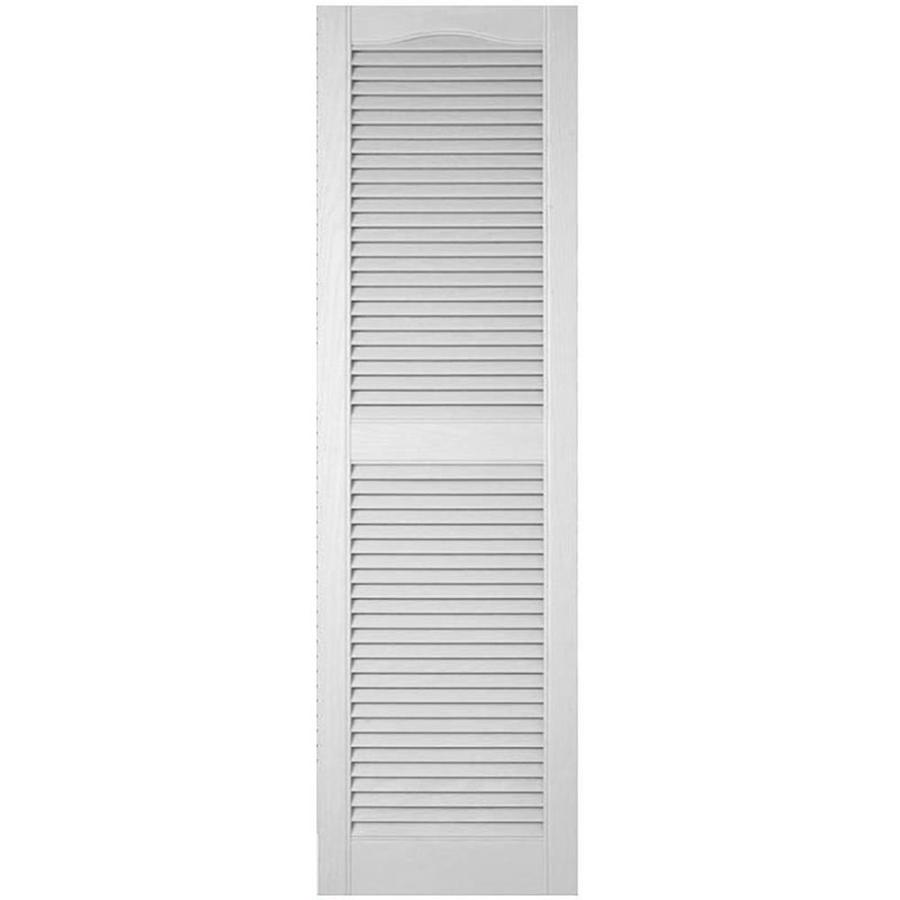 Ekena Millwork Lifetime Custom Cathedral Top Center Mullion 2 Pack 18 In W X 55 In H Paintable Louvered Vinyl Exterior Shutters In The Exterior Shutters Department At Lowes Com
