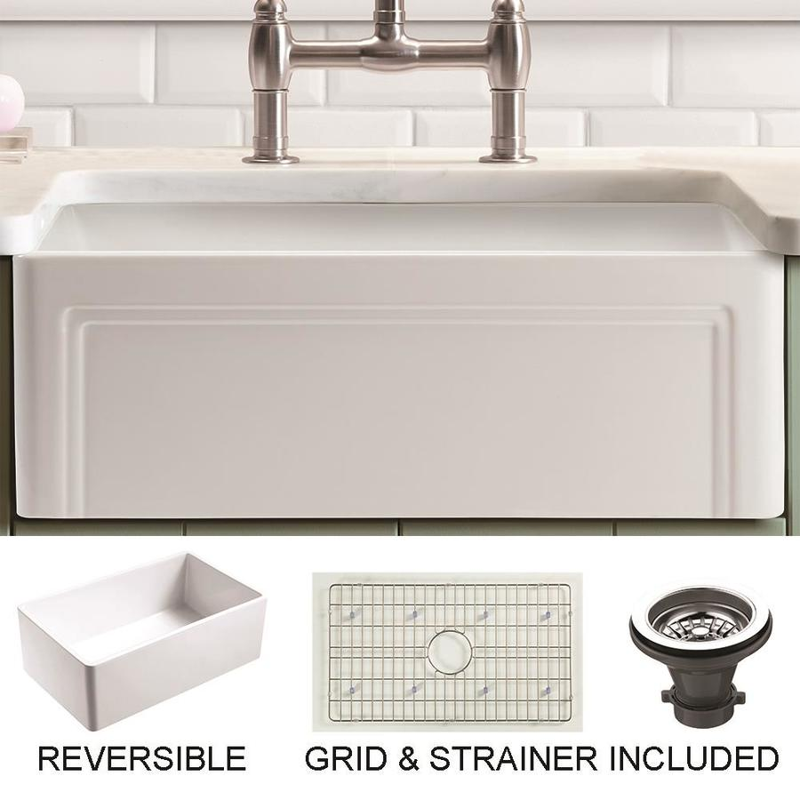 Undermount Apron Front Farmhouse Olde London Kitchen Sinks At Lowes Com