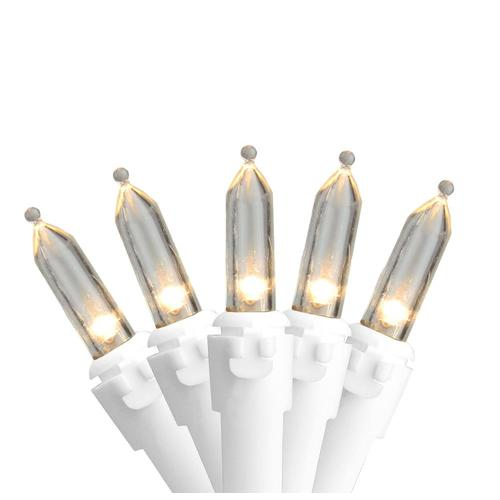 Northlight 100--Count Warm White LED Mini Christmas Light Set, 33ft White Wire at Lowes.com
