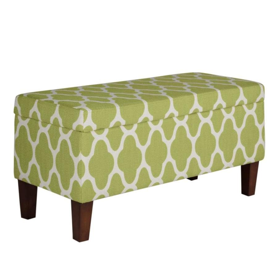 Benzara Modern Green Storage Bench In The Indoor Benches Department At Lowes Com