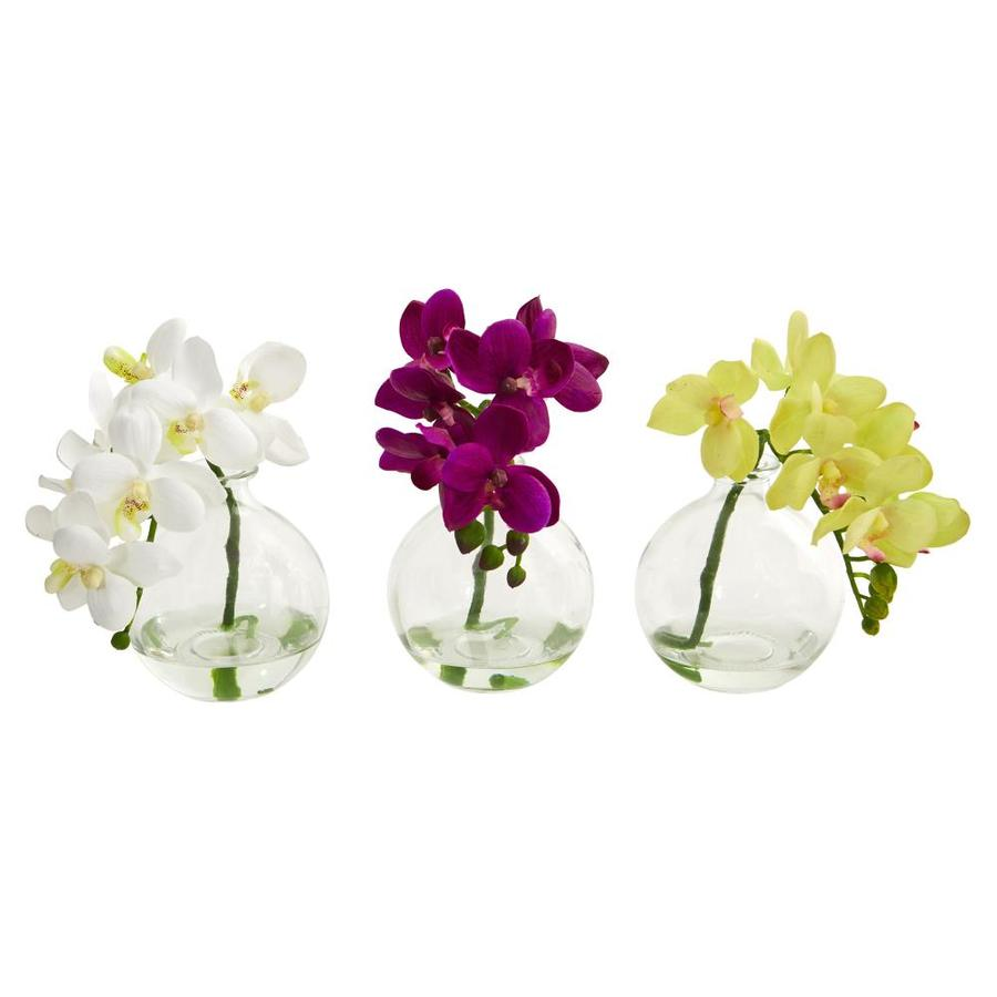 20 In Set of 12 Nearly Natural 20in Phalaenopsis Orchid Artificial ...