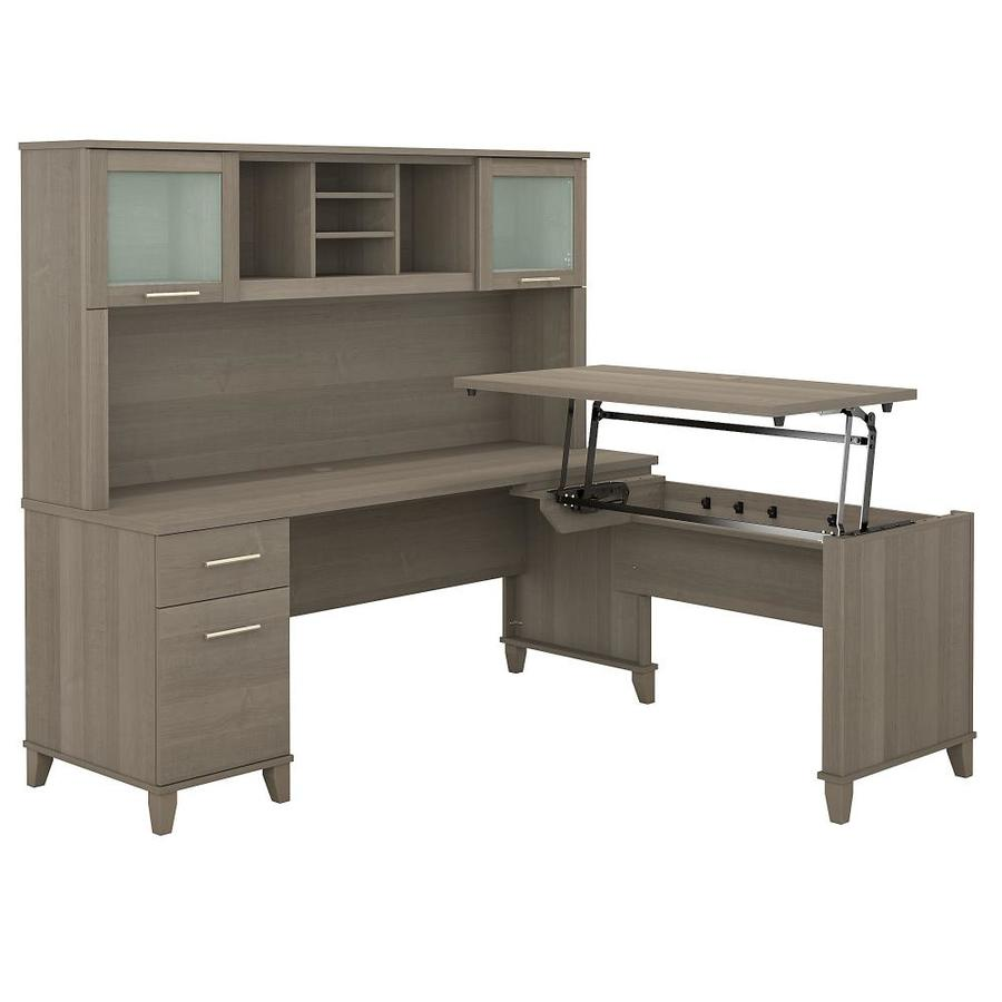 Bush Furniture Somerset 71 02 In Gray L Shaped Desk In The Desks Department At Lowes Com