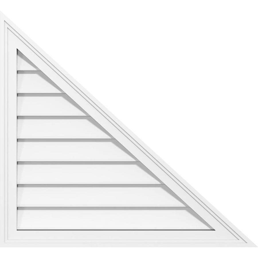 Ekena Millwork 22 In W X 16 1 2 In H Right Triangle Right Side Surface Mount Pvc Gable Vent 9 12 Pitch Non Functional W 2 In W X 1 1 2 In P Brickmould Frame In The Gable Vents Department At
