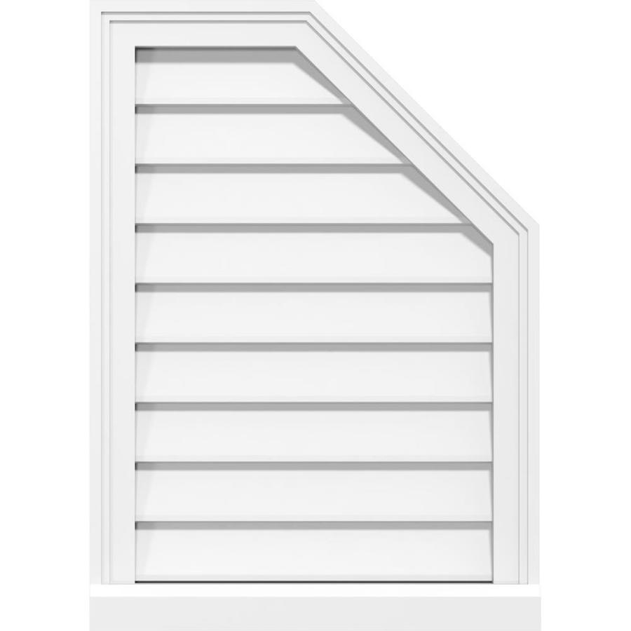 Ekena Millwork 18 In W X 34 In H Half Octagon Top Right Surface Mount Pvc Gable Vent Non Functional W 2 In W X 2 In P Brickmould Sill Frame In The Gable Vents Department At Lowes Com