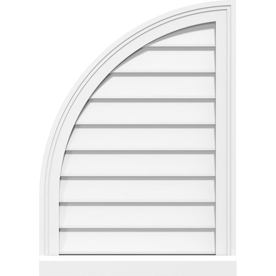 Ekena Millwork 14 In W X 40 In H Quarter Round Top Left Surface Mount Pvc Gable Vent Non Functional W 2 In W X 2 In P Brickmould Sill Frame In The Gable Vents Department At Lowes Com