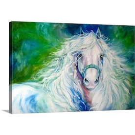 Greatbigcanvas Greatbigcanvas Frameless 24 In H X 30 In W Abstract Canvas Painting In The Wall Art Department At Lowes Com