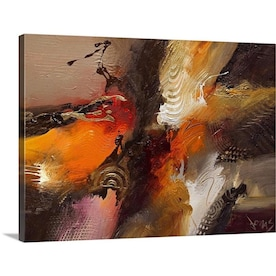 Greatbigcanvas Greatbigcanvas Frameless 24 In H X 18 In W Abstract Canvas Painting In The Wall Art Department At Lowes Com