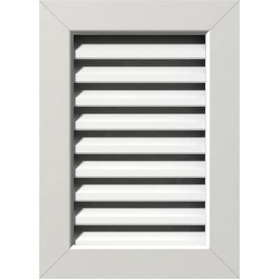 Ekena Millwork 14 In W X 36 In H Vertical Gable Vent 19 In W X 41 In H Frame Size Functional Pvc Gable Vent W 1 In X 4 In Flat Trim Frame In The Gable Vents Department