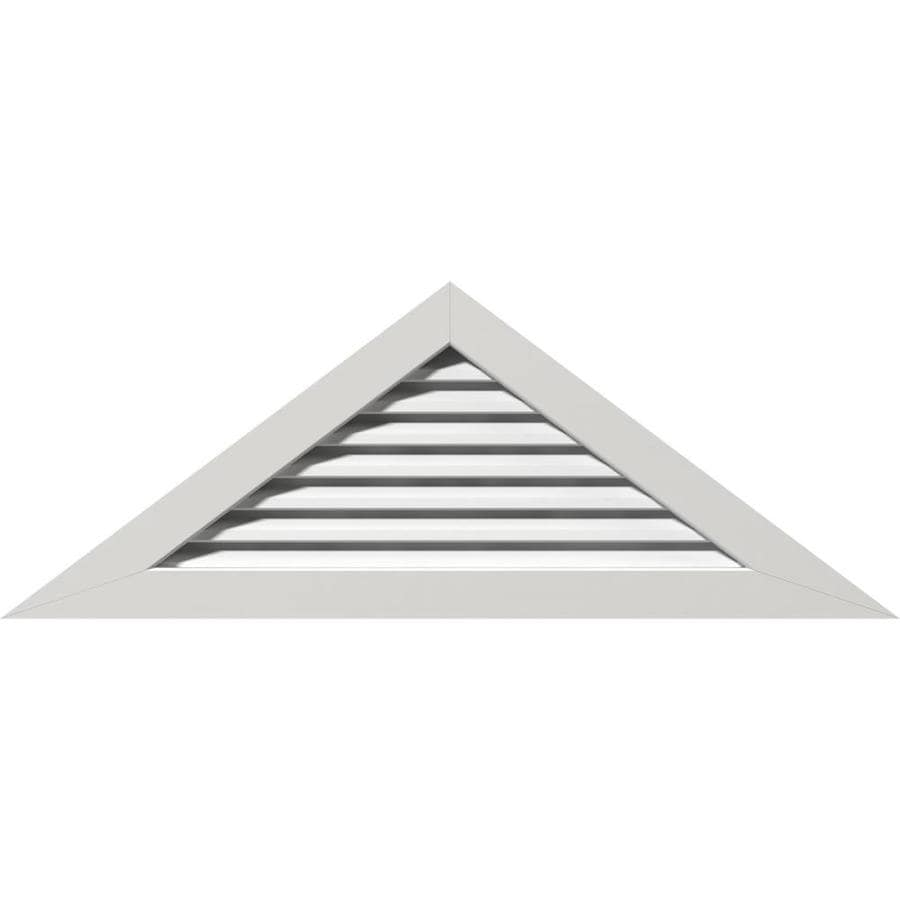 Ekena Millwork 36 In W X 10 1 2 In H Triangle Gable Vent 54 1 2 In W X 15 7 8 In H Frame Size 7 12 Pitch Functional Pvc Gable Vent W 1 In X 4 In Flat Trim Frame In The Gable
